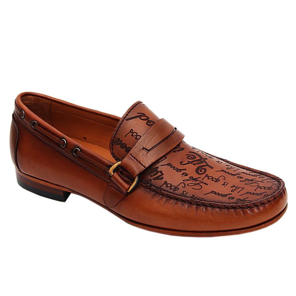 Brown Julio Caesar Italian Leather Loafers