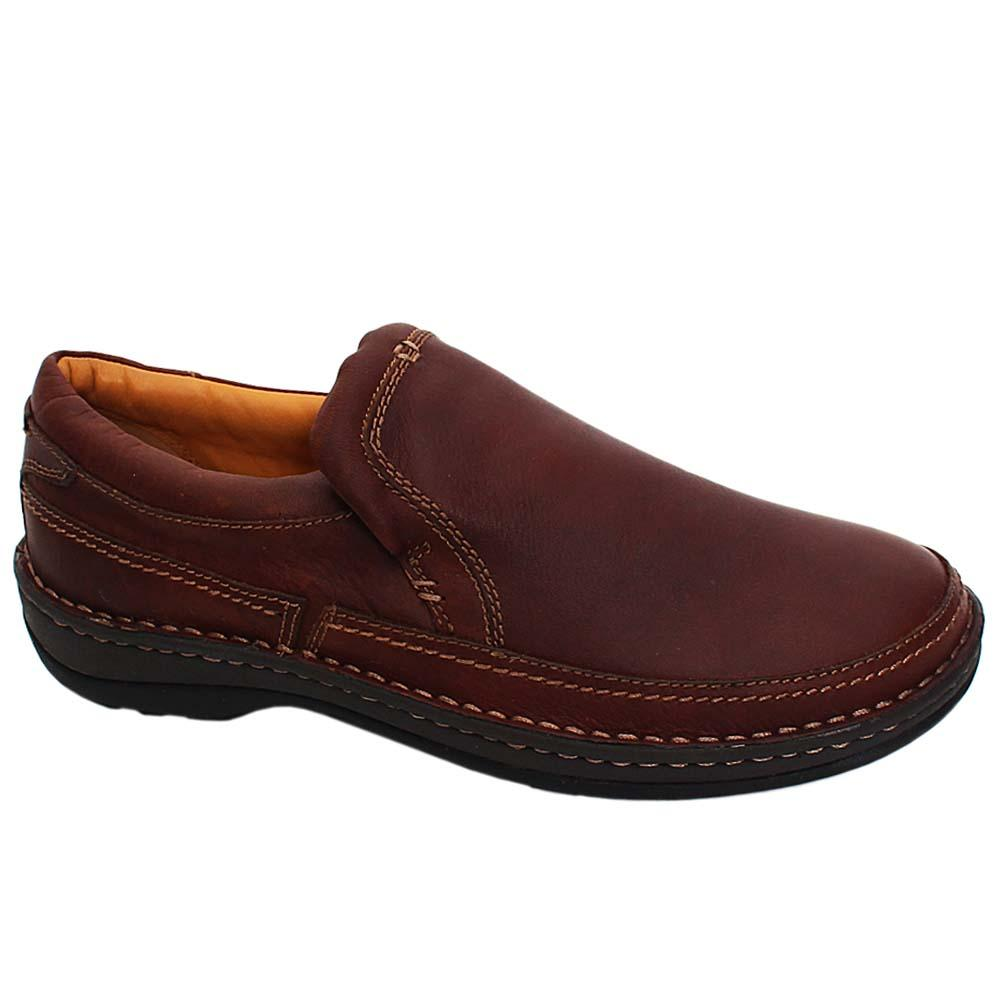 Coffee Alloy Air Flex Leather Comfort Fit Men Loafers