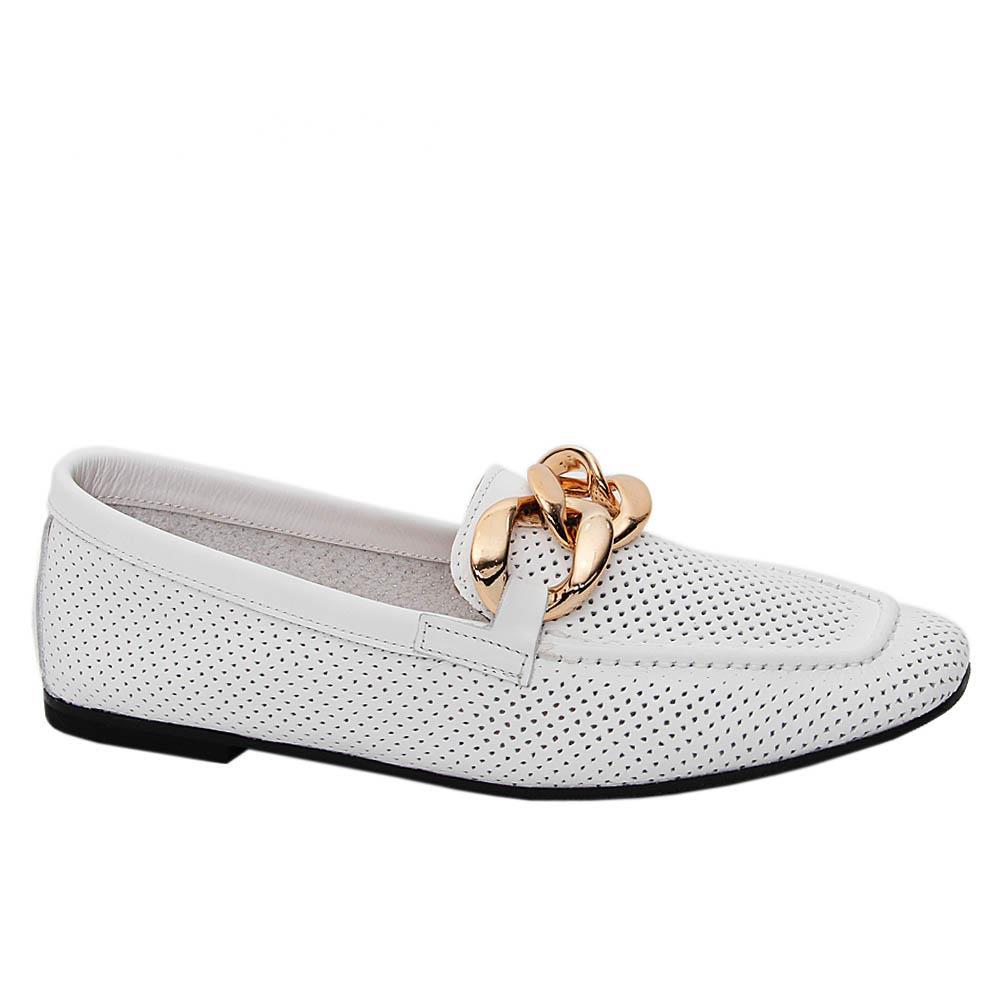 White-Margherita-Tuscany-Soft-Leather-Breathable-Ladies-Flat-Shoe