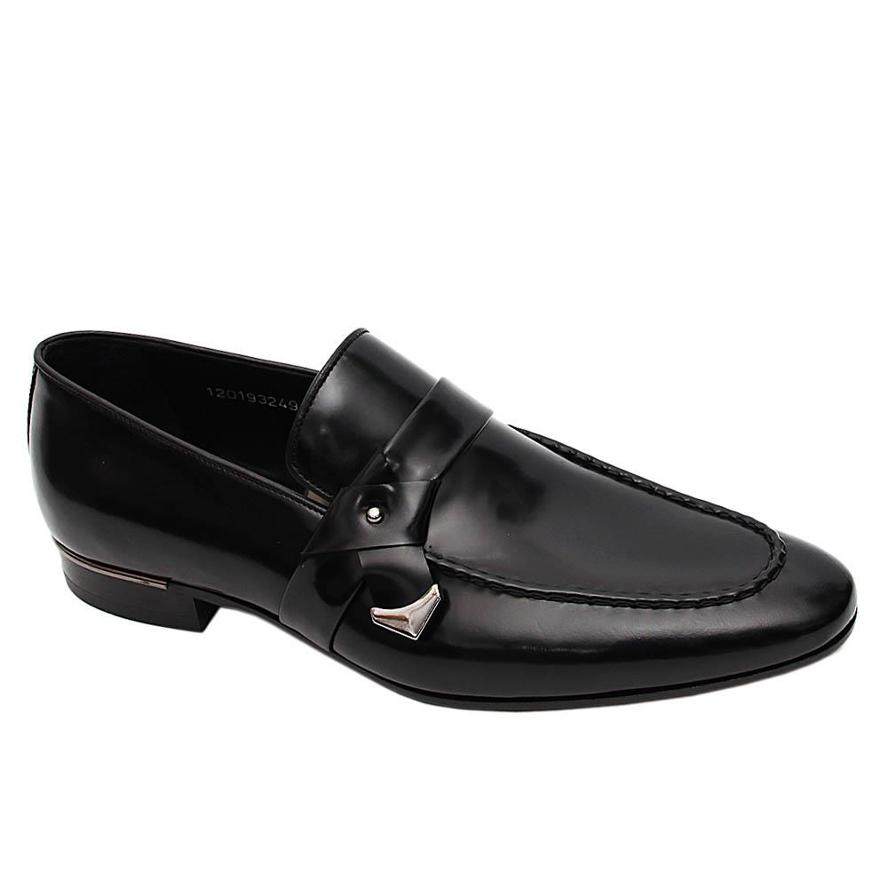 Black Dorrego Italian Leather Loafers