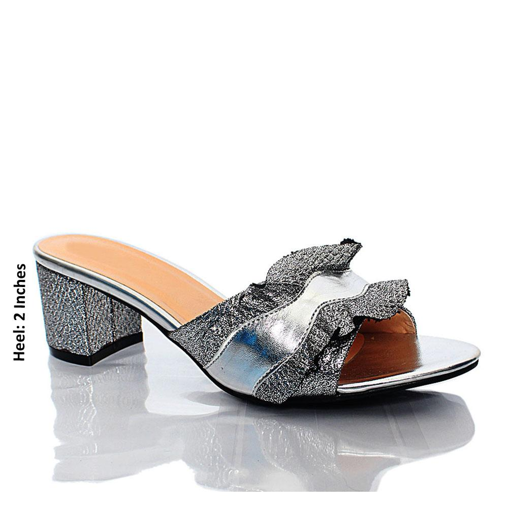 Silver-LL-Camila-Leather-Mule