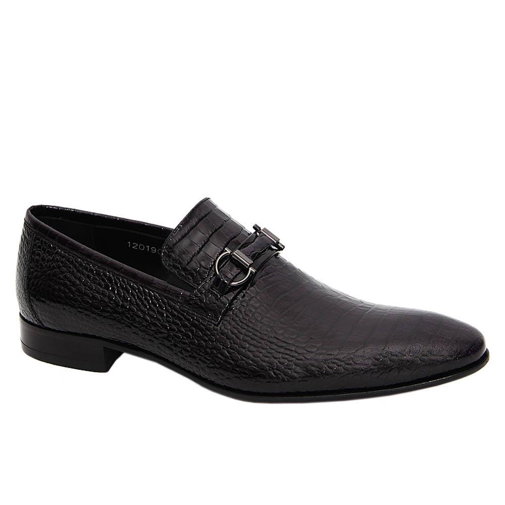 Black Robertino Italian Leather Loafers