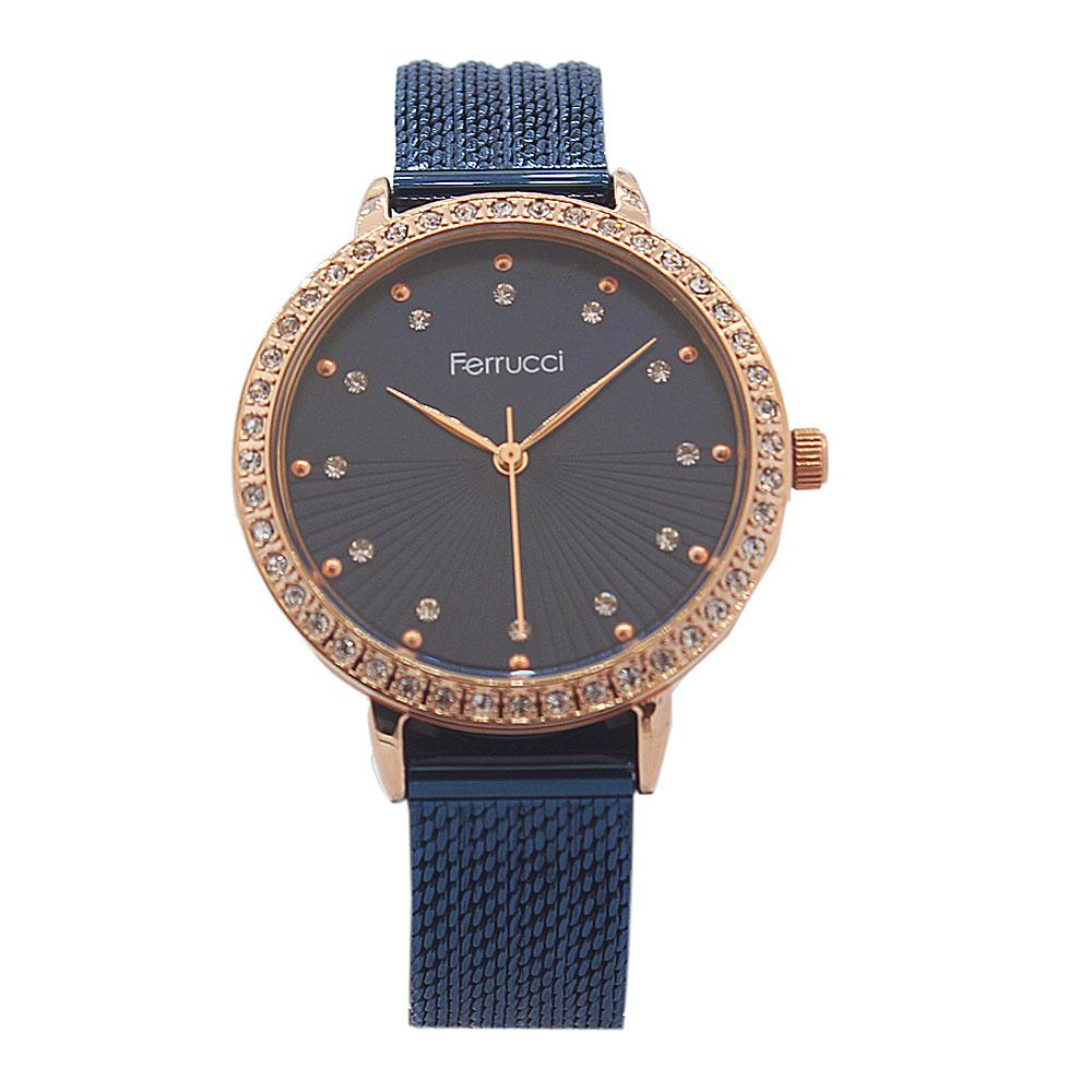 PariBlue Studded Stainless Steel Ladies Watch