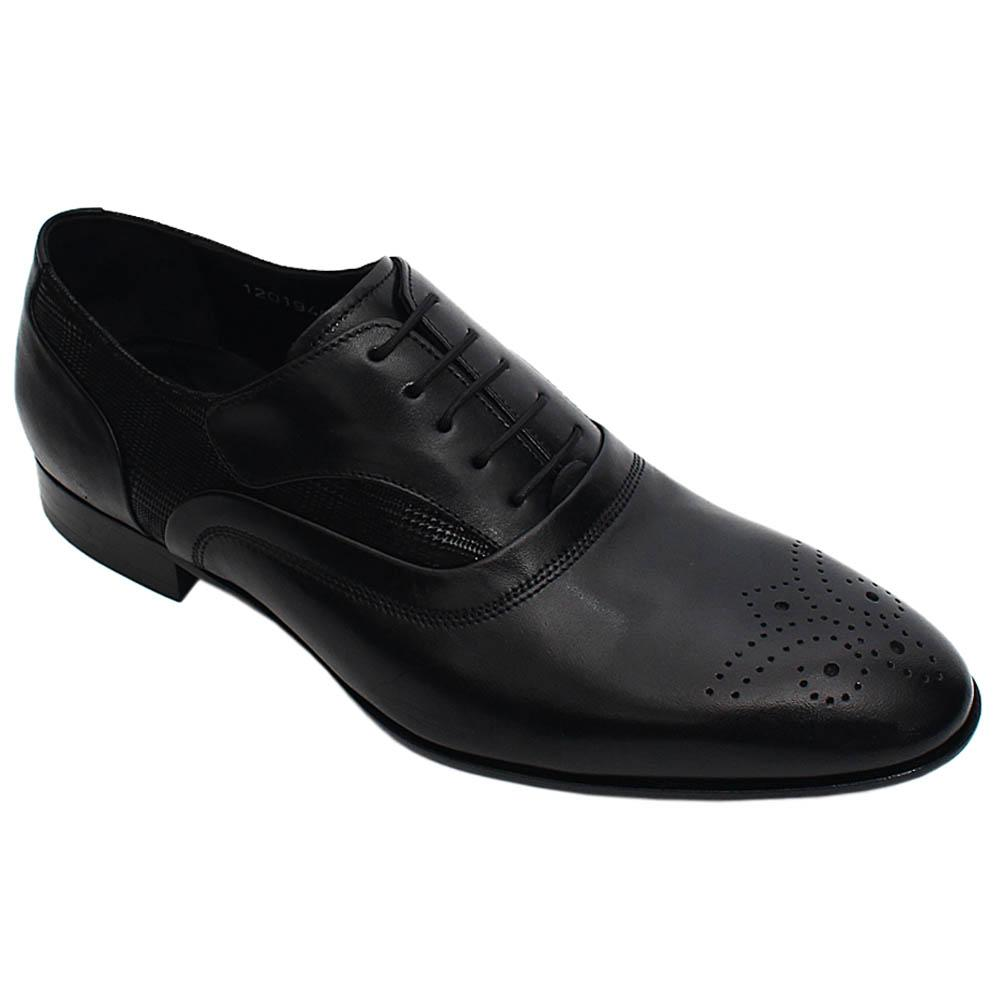 Black Lorenzo Italian Leather Men Oxford Shoe