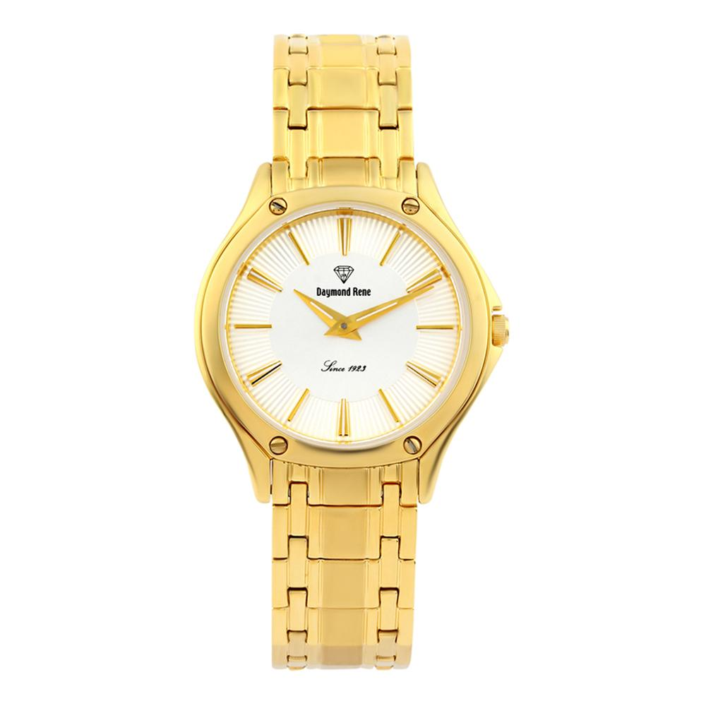 Gold Stainless Steel Classic Flat Watch