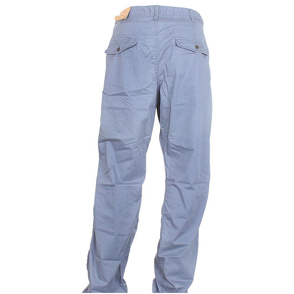 Blue Cotton Men Trouser W 40, L 45 Inch