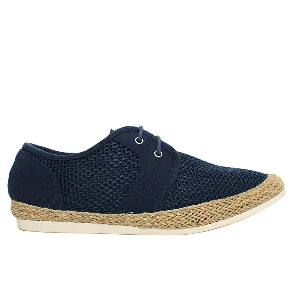 Navy Loughton Fabric Sneakers