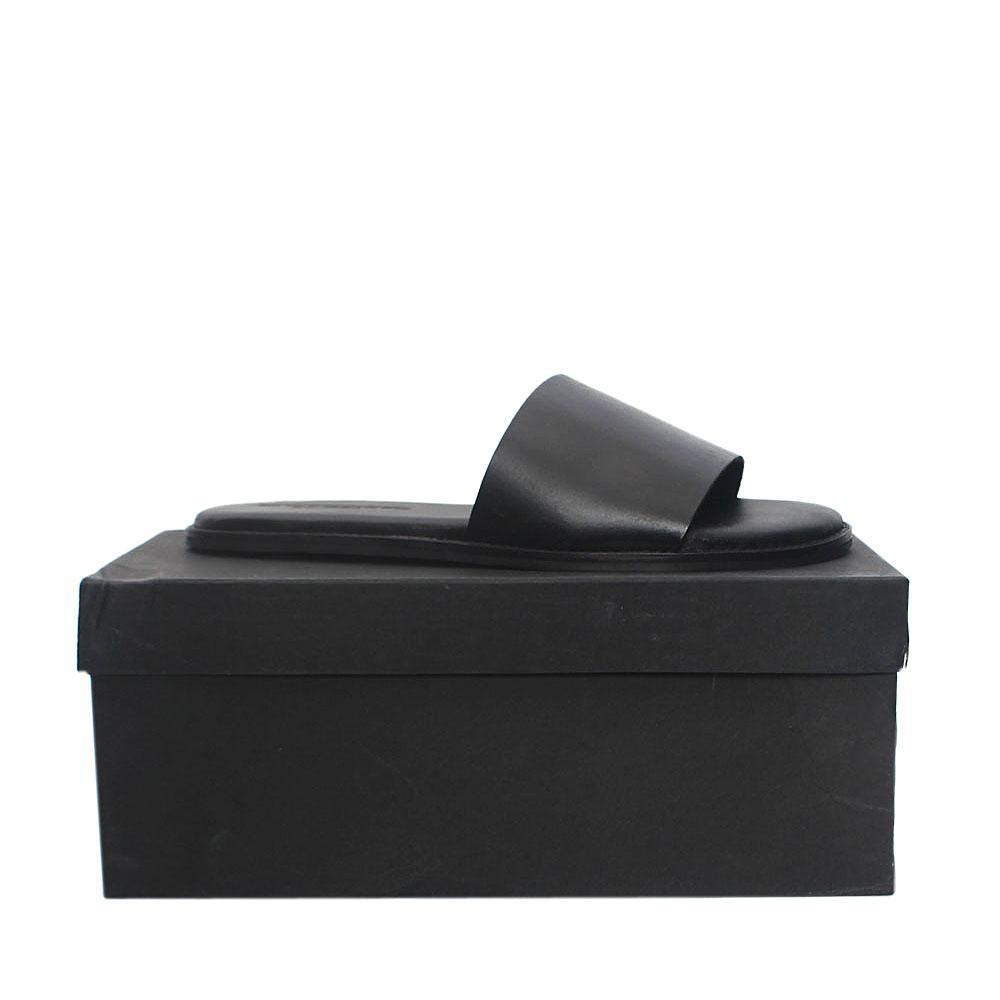 Kurt Geiger Black Premium Leather Flat Men Slippers Sz 43