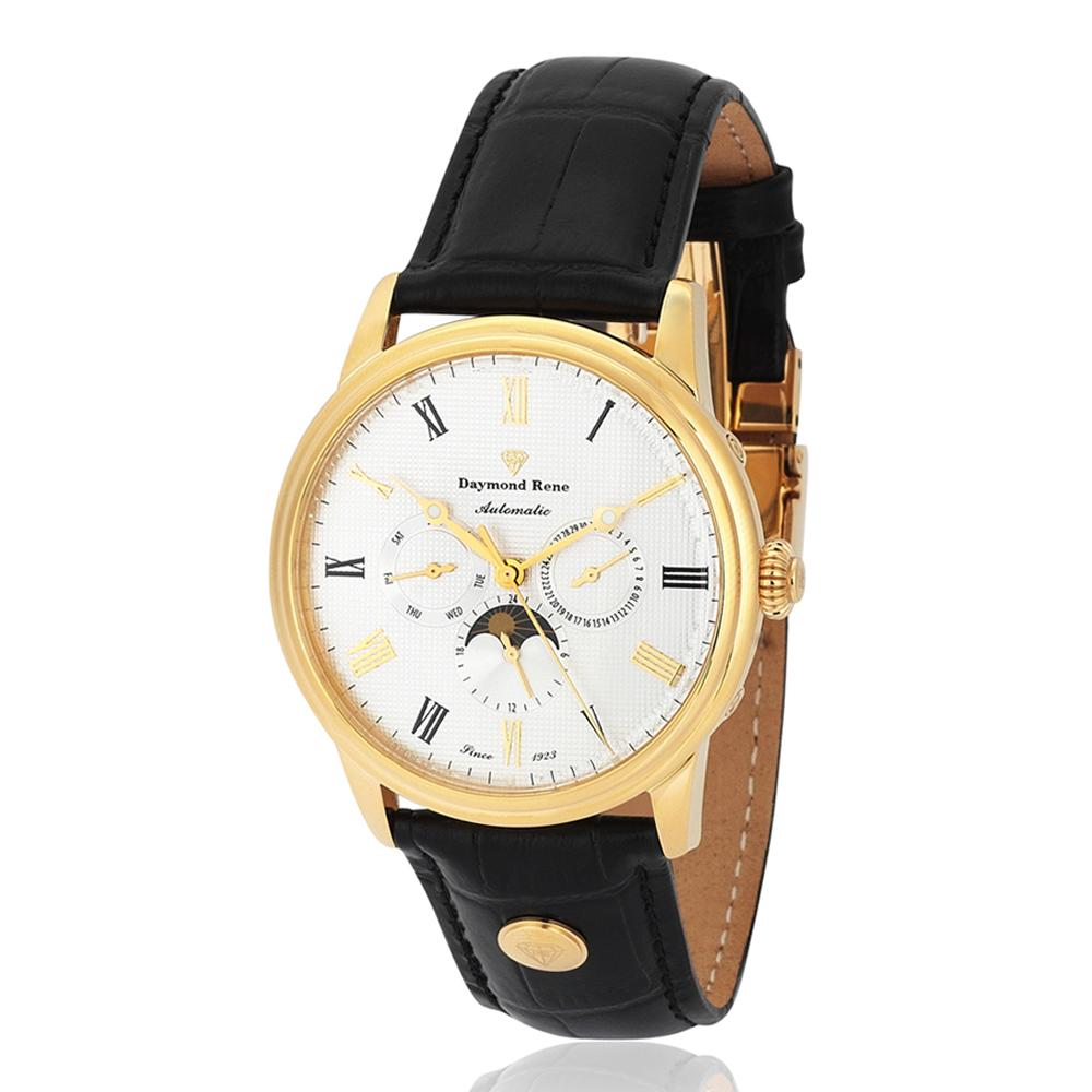 DR 3ATM Black Gold  Leather Automatic Watch