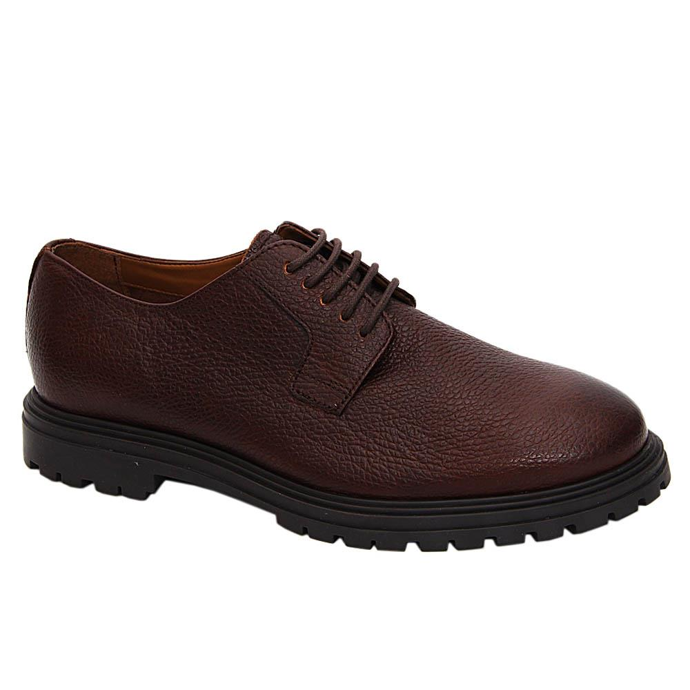 Brown Emiliano Leather Derby Shoe