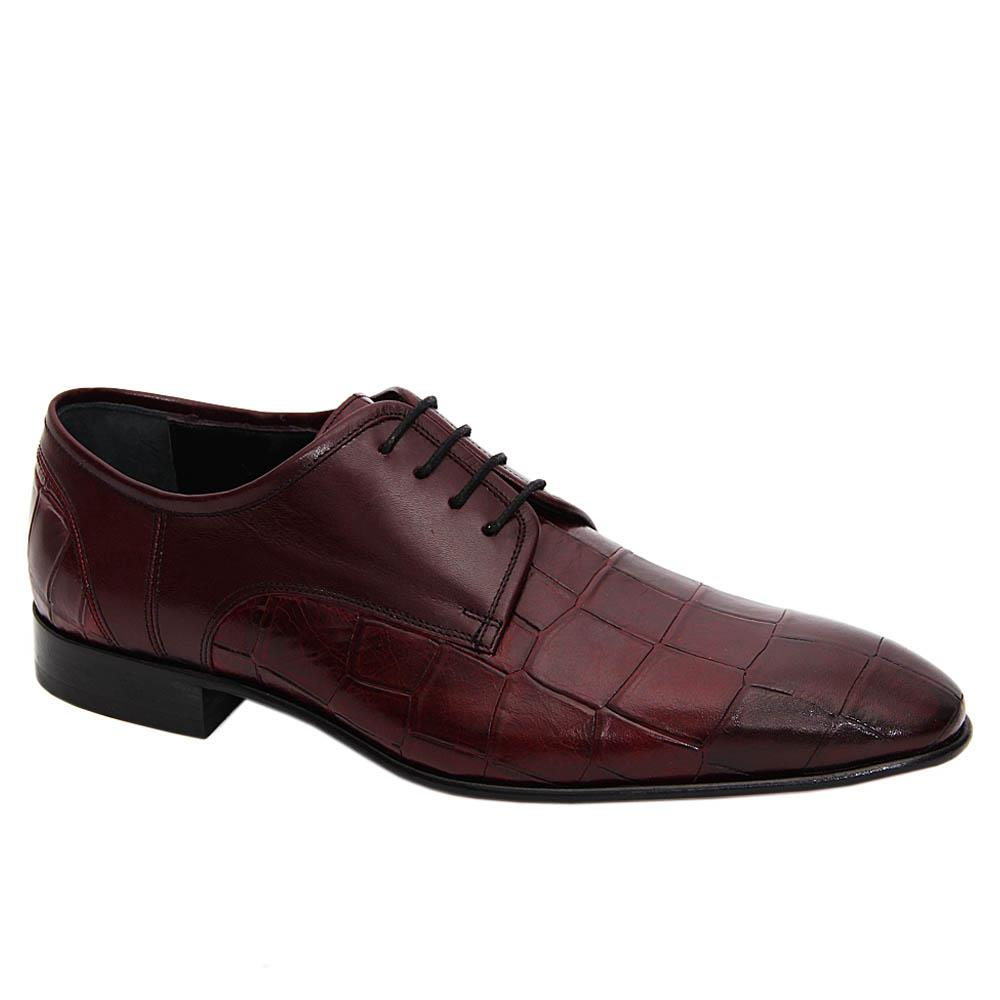Burgundy Renato Italian Leather Derby Shoe