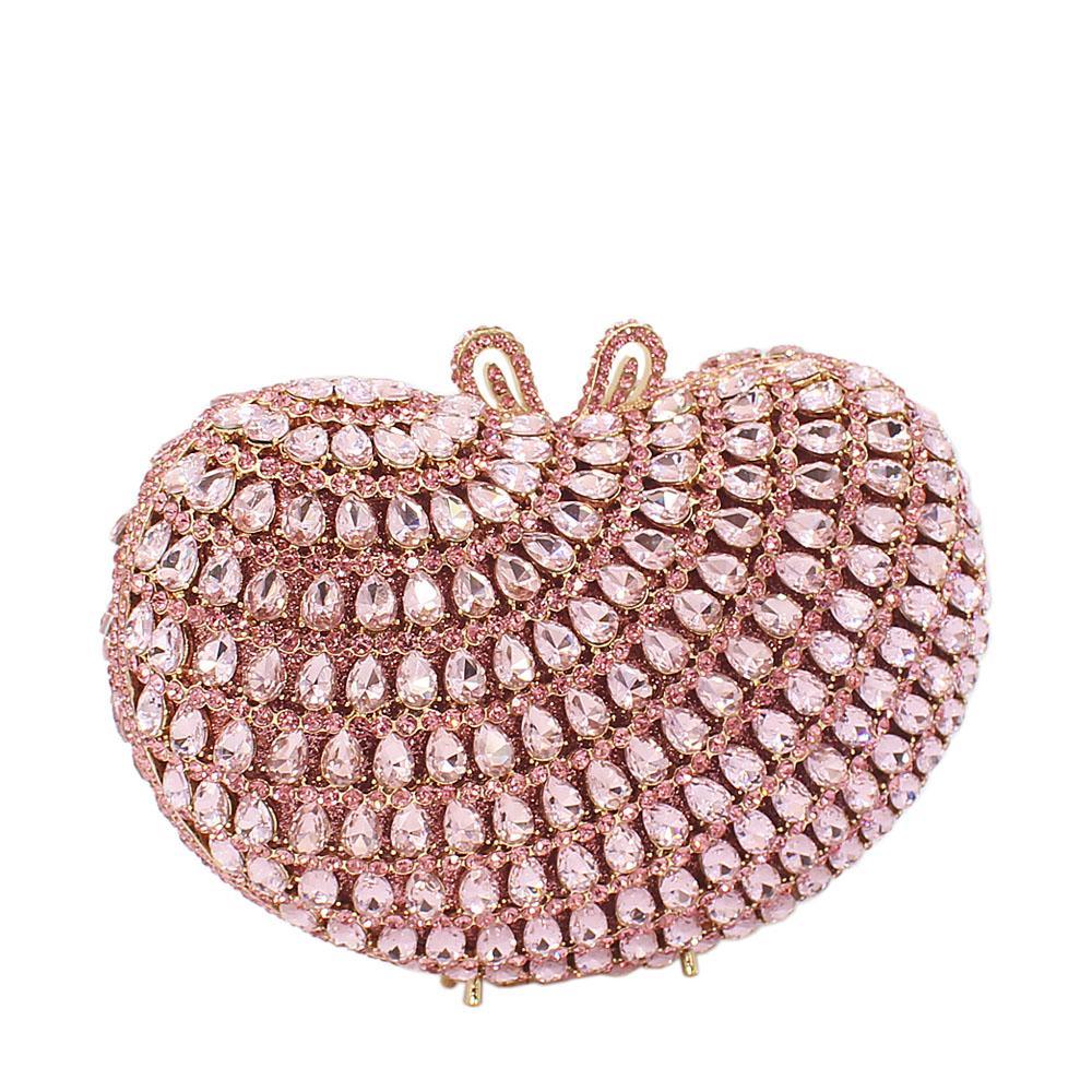 Pink-Ice-Diamante-Crystals-Clutch-Purse