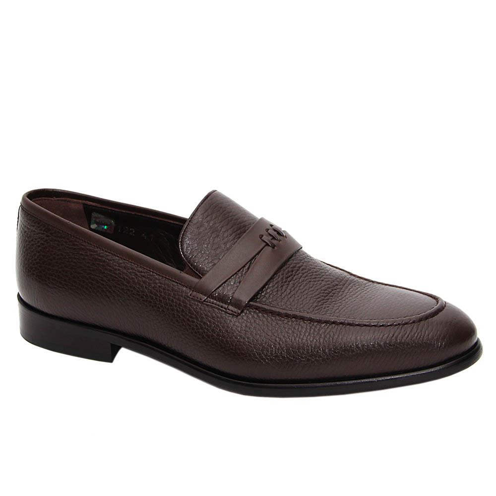 Coffee Dante Italian Leather Loafers