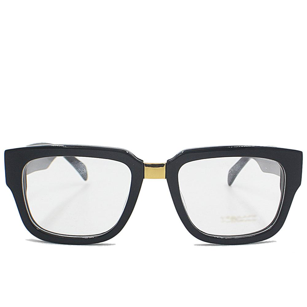 Black Straight FNarrow Fit Eyeglasse