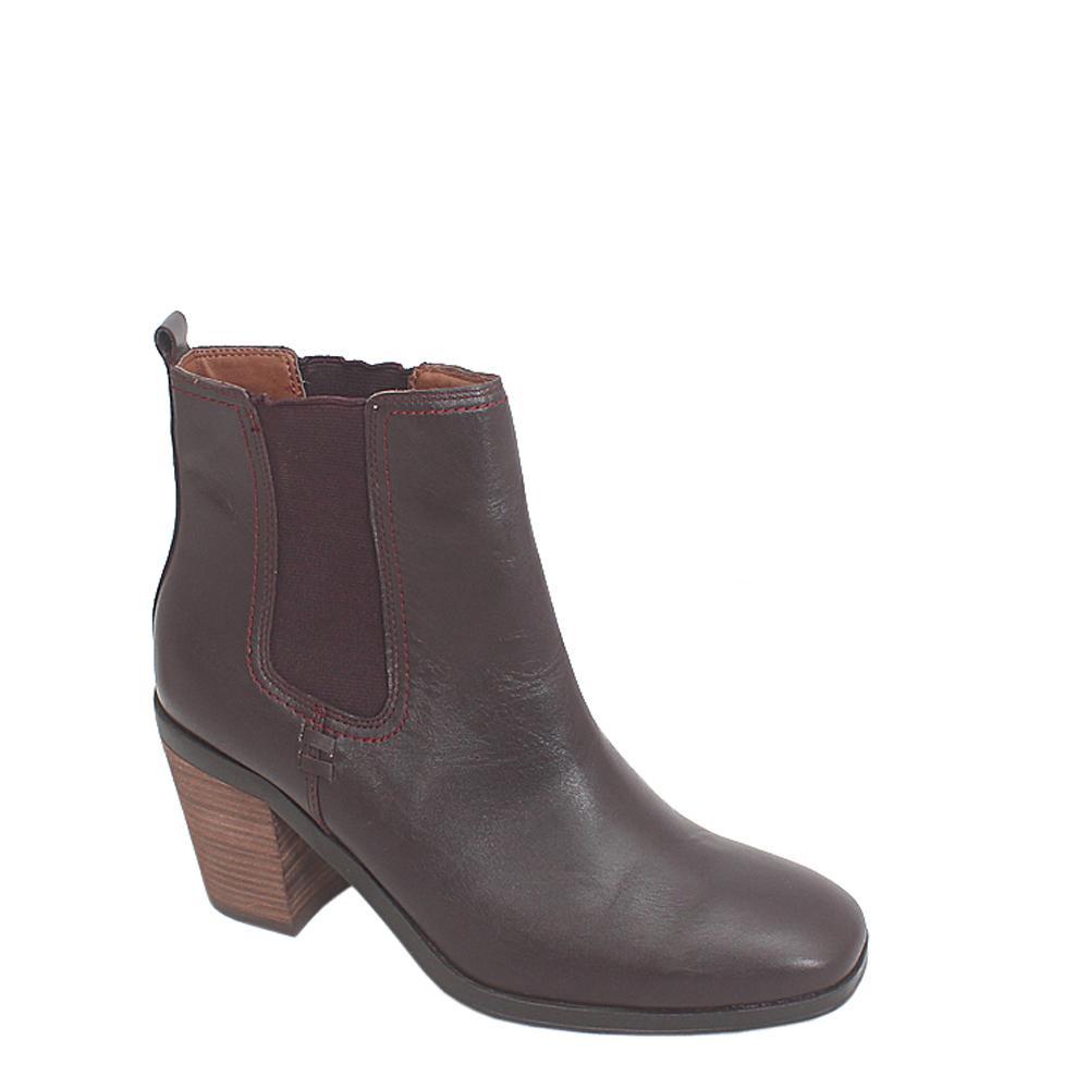 Indigo Collection Wine Leather Ladies Ankle Shoe Sz 39.5