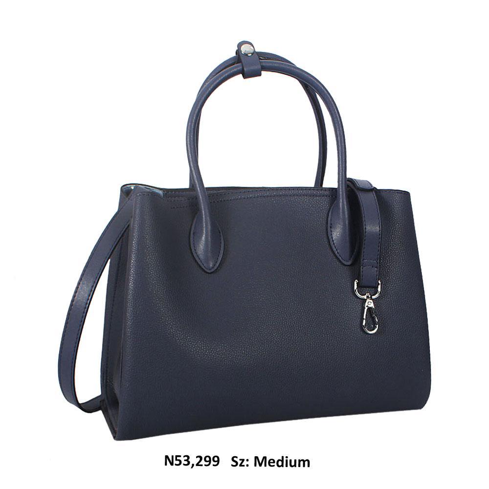 Eva Blue Cowhide Leather Tote Handbag
