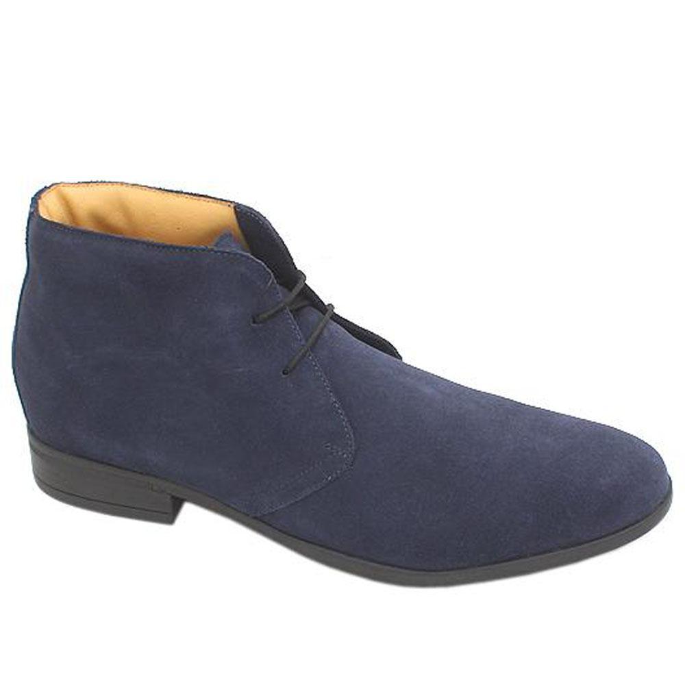 M & S Collection Blue Lace.Up Suede Leather Men Ankle Shoe Sz 44.5
