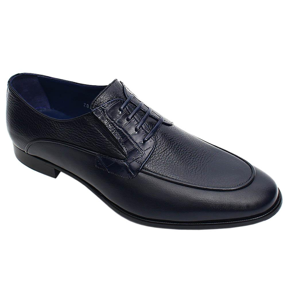 Navy Calvino Italian Leather Men Loafers
