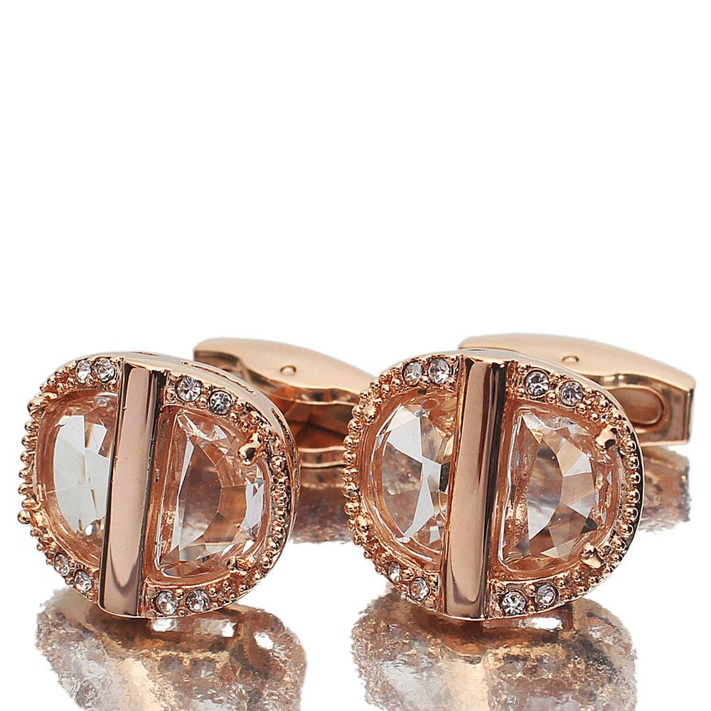 Rose Gold Ice Stainless Steel Cufflinks