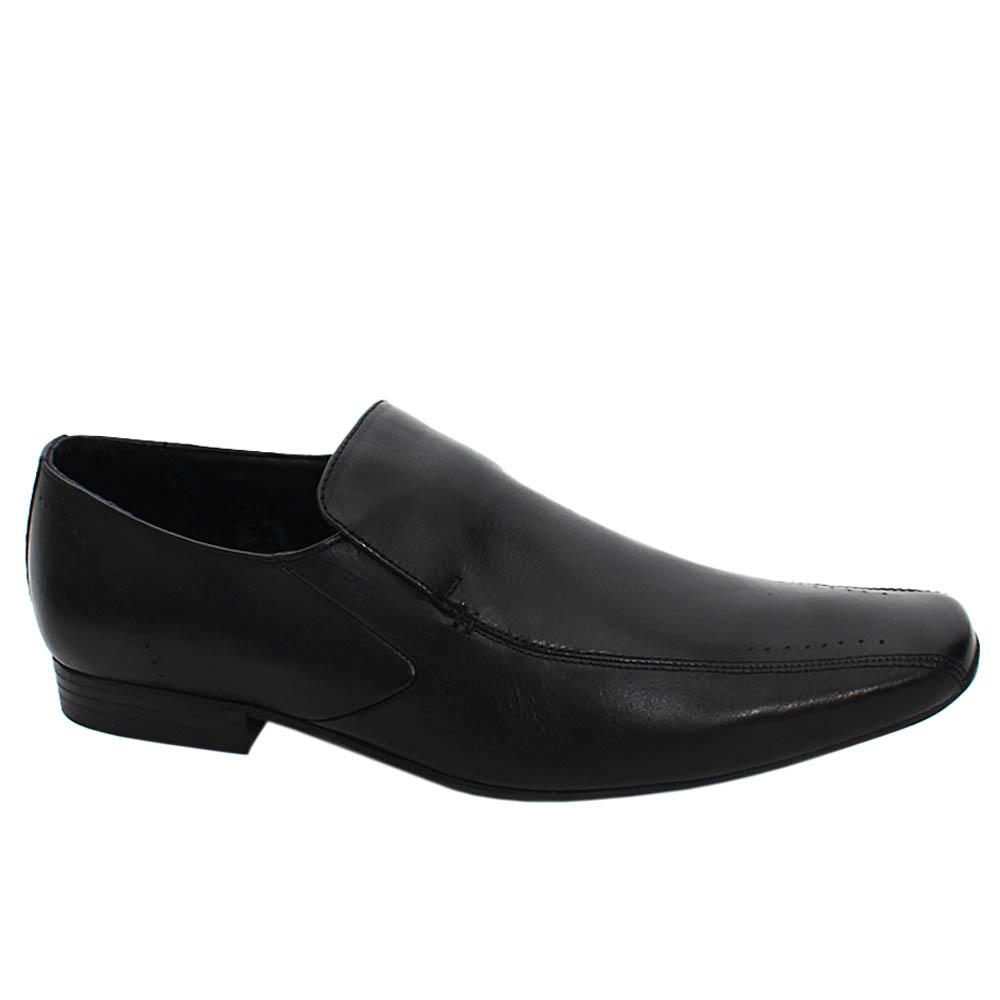 Black Dunston Ross Leather Men Penny Loafers