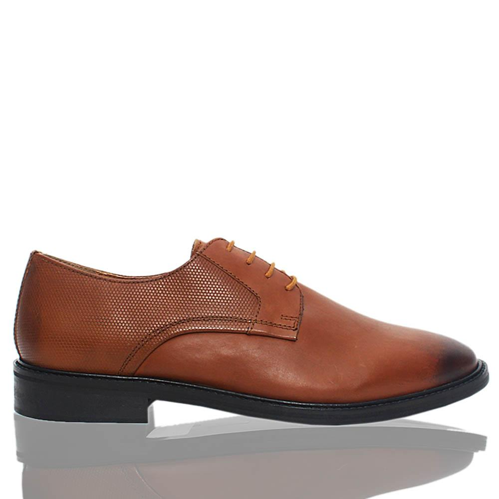 Brown Premium Leather Men Derby Shoes