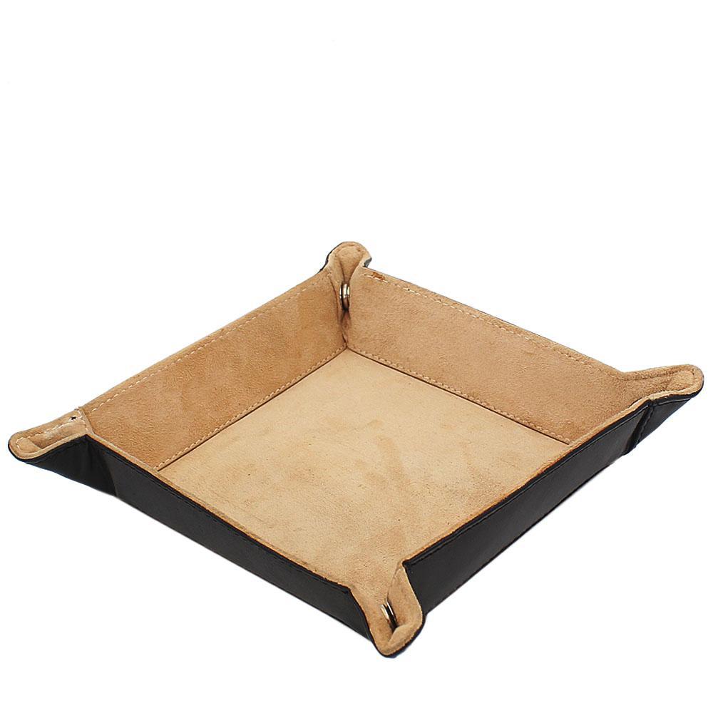 Black Leather Luxury Tidy Tray