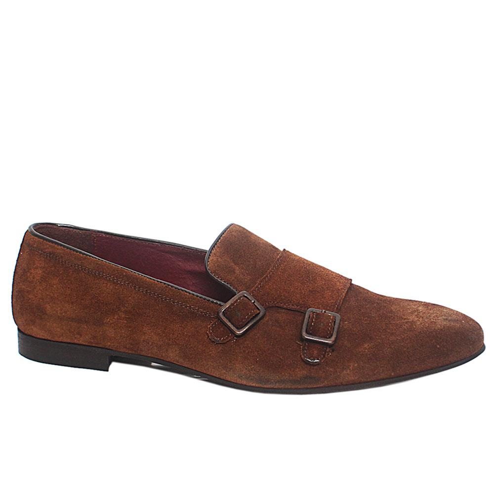 Brown Suede Leather Loafers