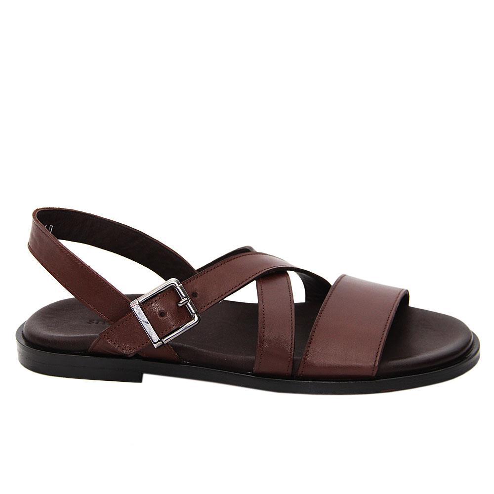 Coffee Giuliano Italian Leather Sandals