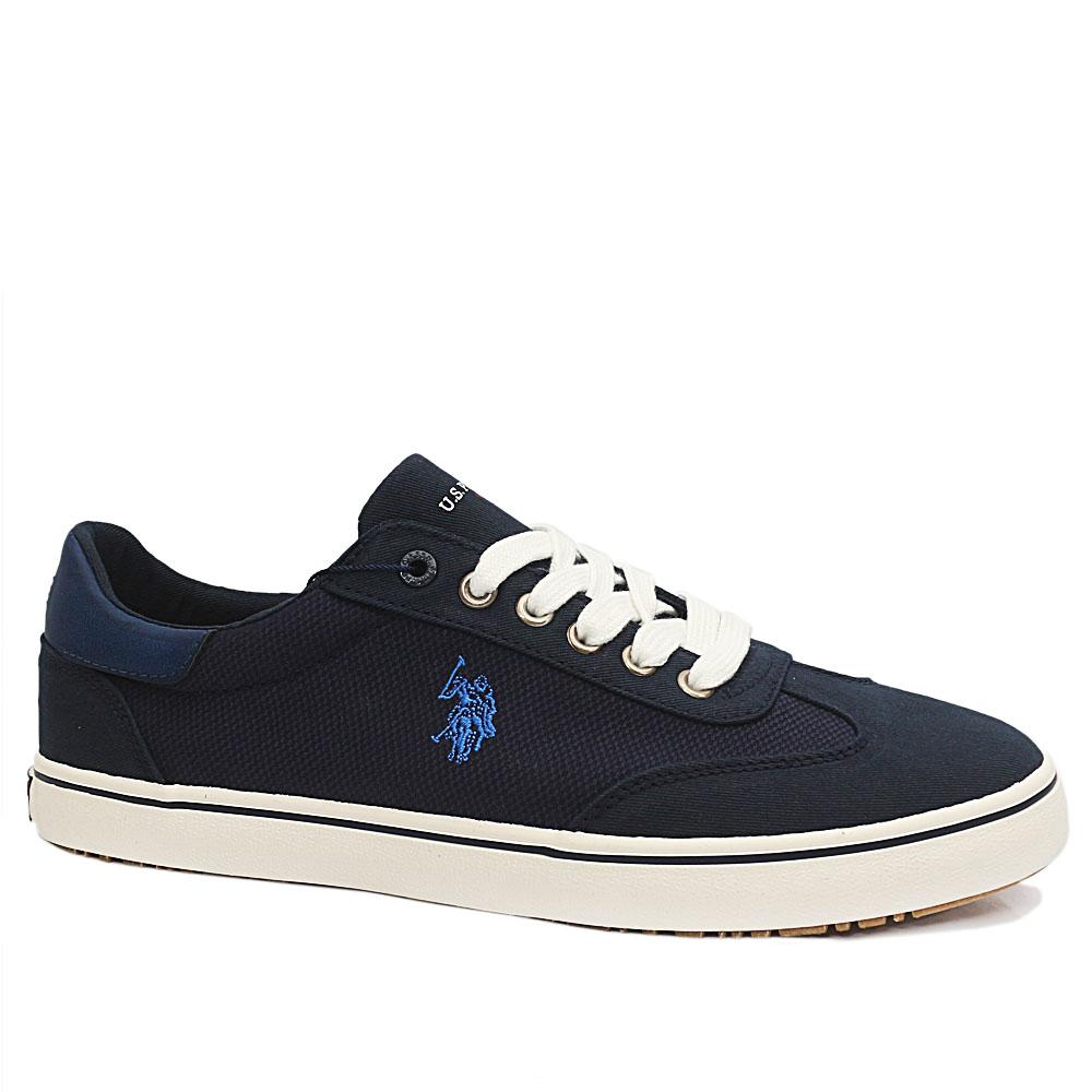Sz 44 USSPA Navy Ted Fabric Sneakers
