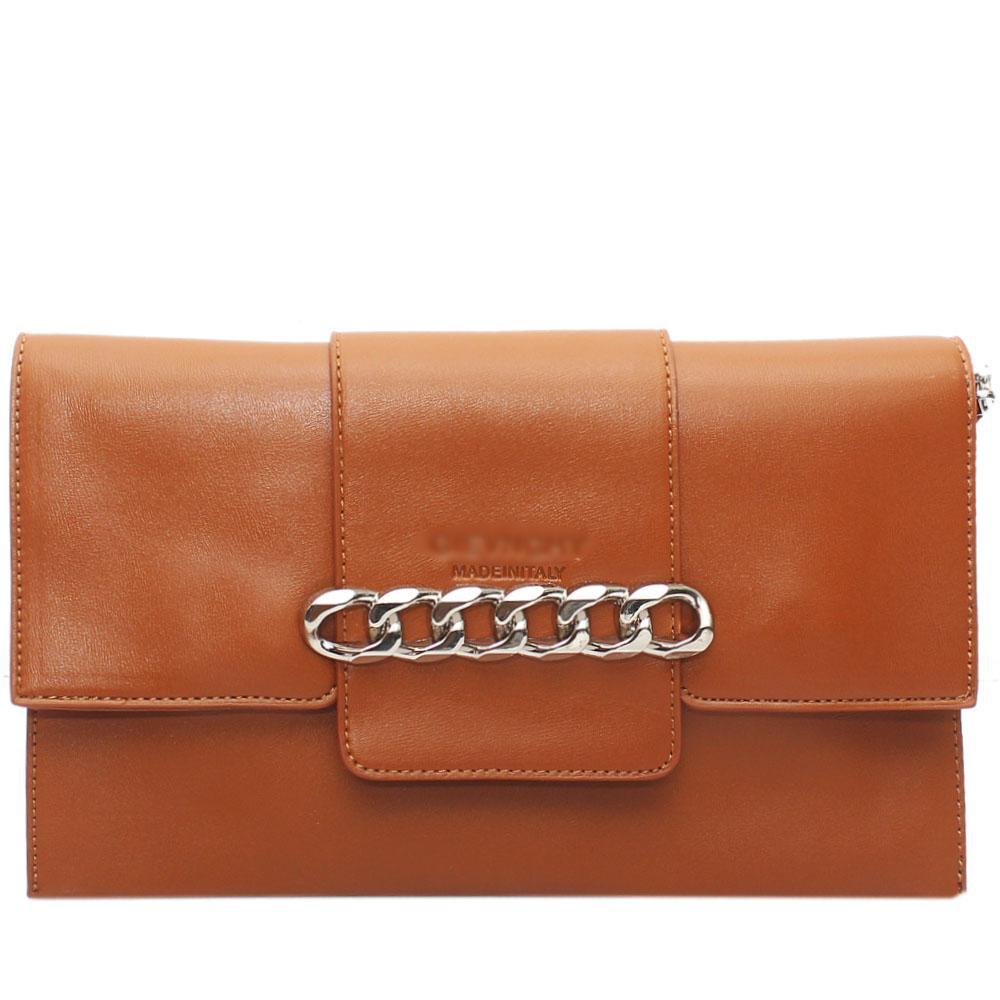 Brown Arelia Design Leather Flat Purse