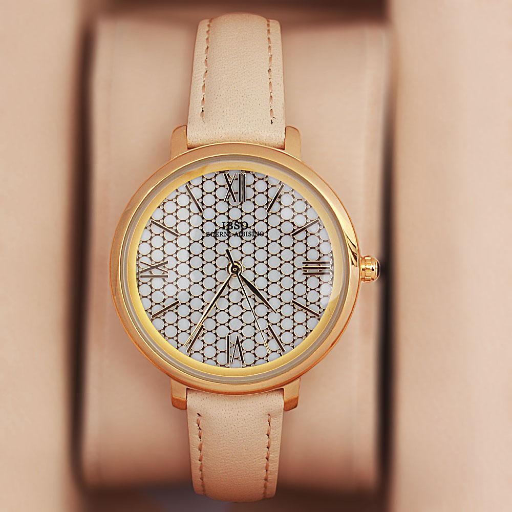 Vintage Cream Leather Slim Ladies Watch
