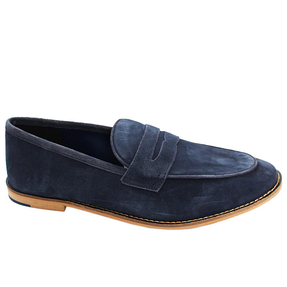 Navy Ethan Suede Leather Men Loafers