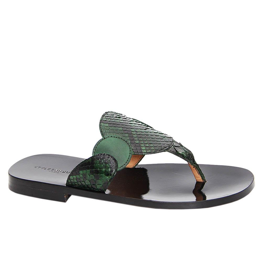 Green Julian Italian Leather Slippers
