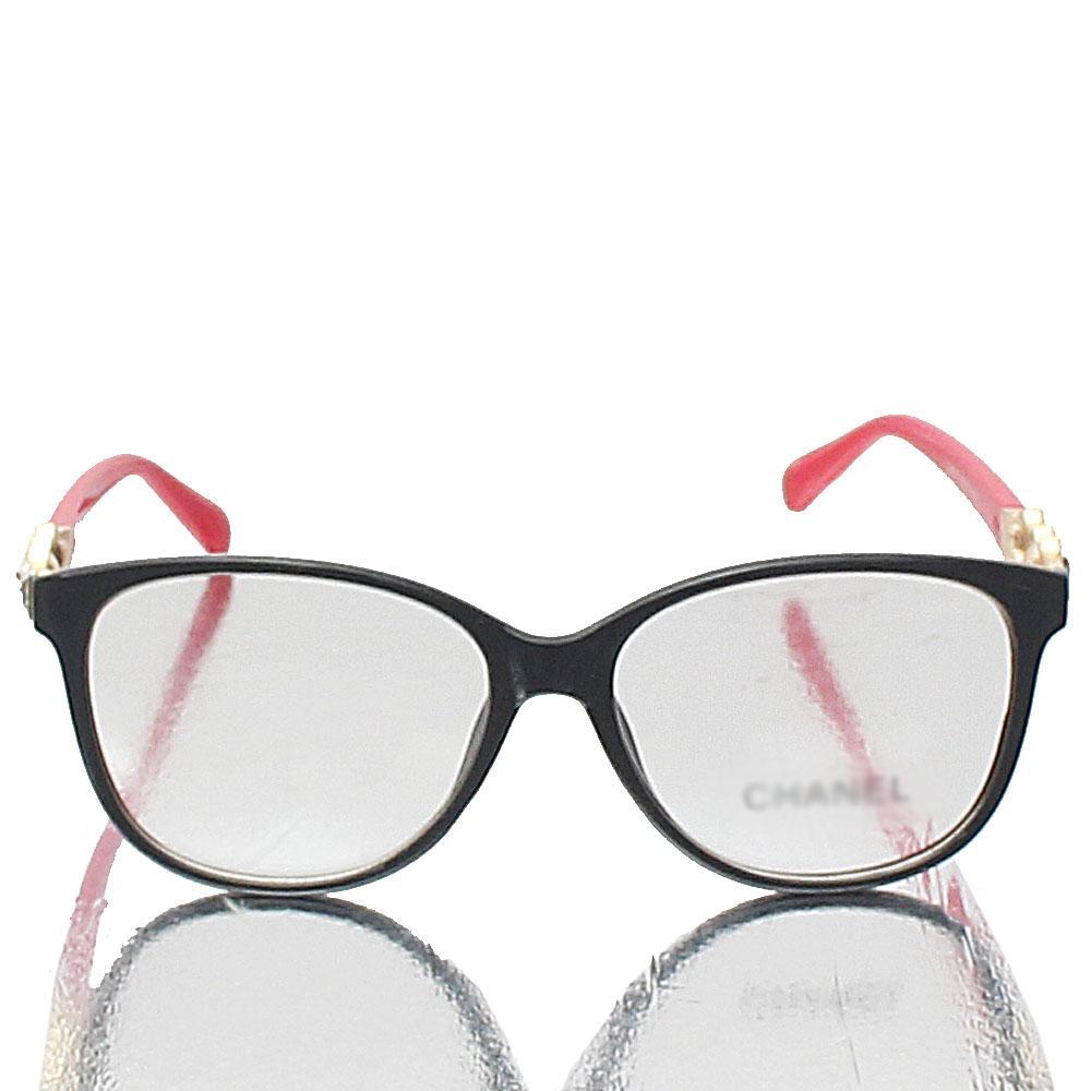 Gold Red Wayfarer Transparent Lens Glasses