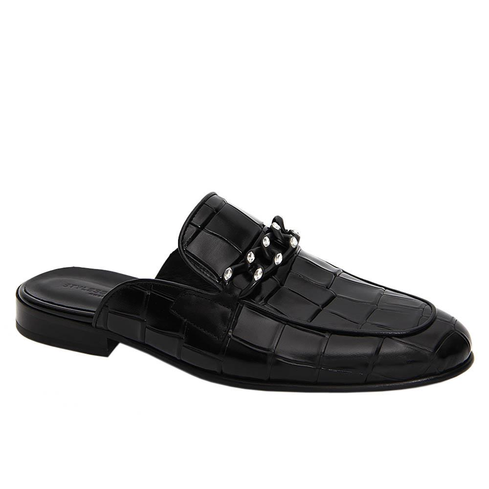 Black Arturo Matus Italian Leather Half Shoe