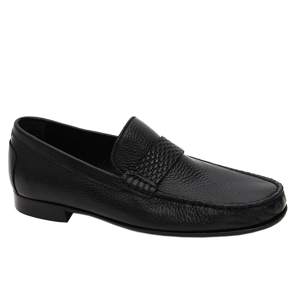 Black Ziggy Italian Soft Leather Penny Loafers