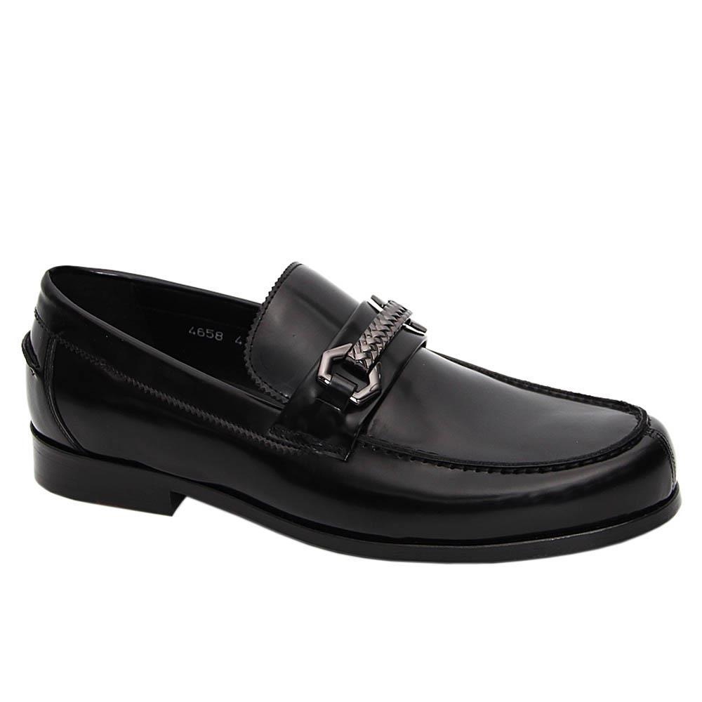 Black Esteban Pablo Italian Leather Loafers