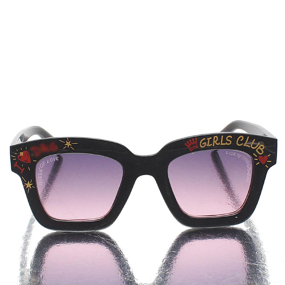 Black GirlClub Square FSunglasses