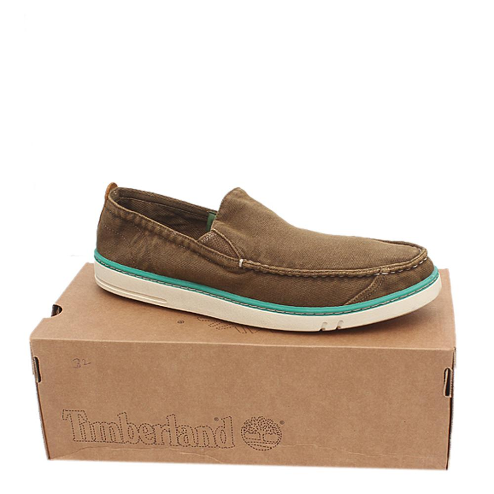 Timberland Earthkeepers Brown White Slip On Men Sneakers Sz 45