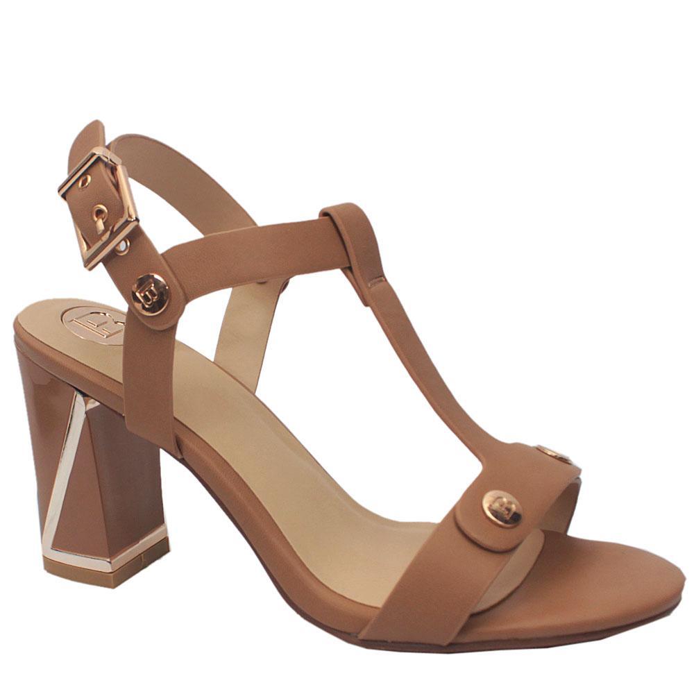 Sz 39 Biagiotti Biege Leather Heels