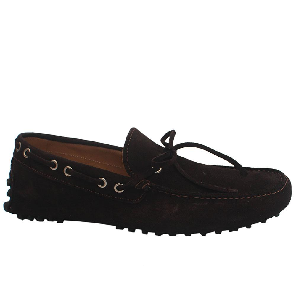 Sz 45 MII Coffee Cam TD Suede Leather Loafers