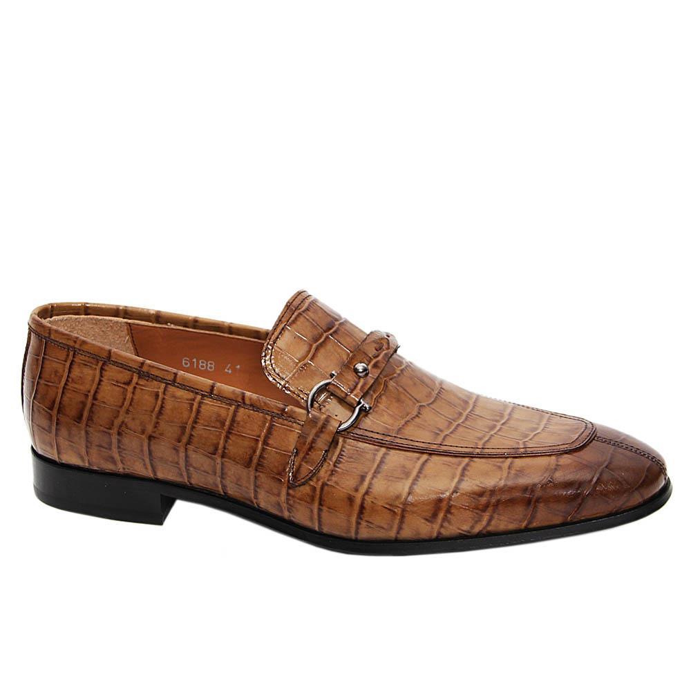 Khaki Brown Santos Italian Leather Loafers