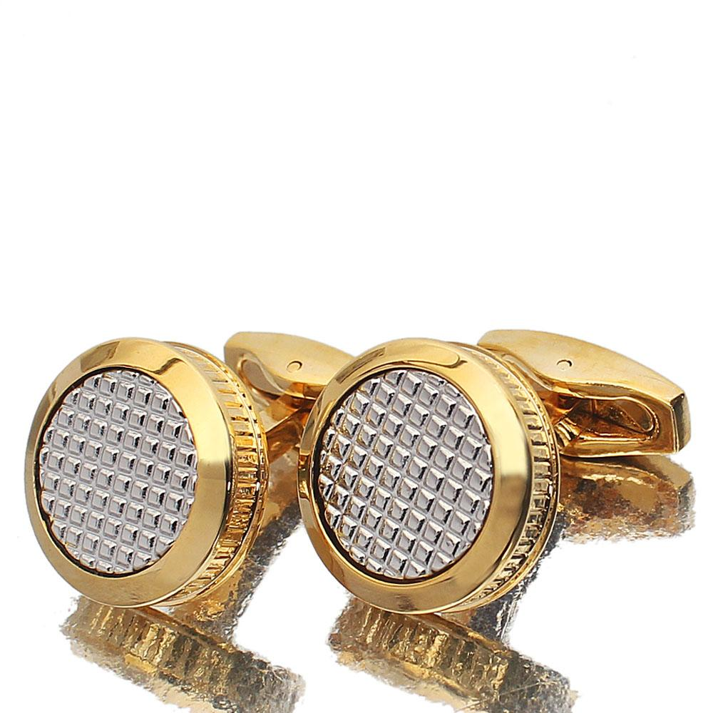 Iron Gold Silver Stainless Steel Cufflinks