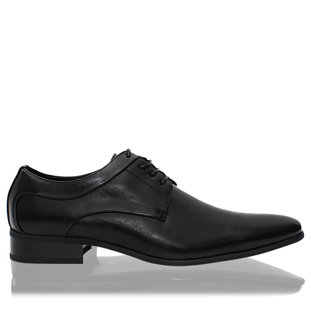 Black Harold Leather Men Derby Shoes