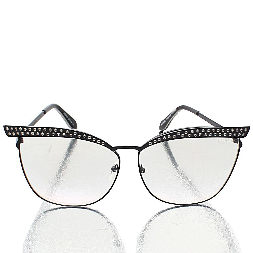Black-Cat-Eye-Transparent-Lens-Glasses