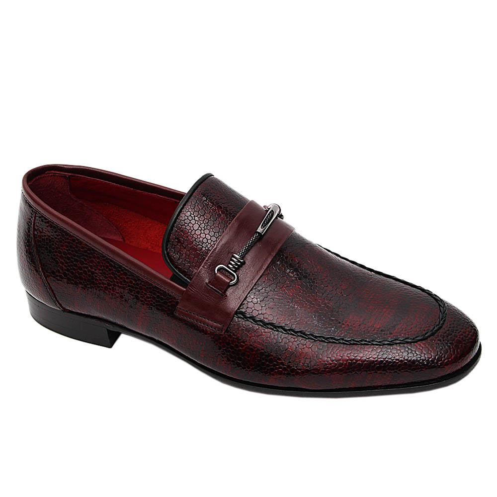 Burgundy Videl Italian Leather Loafers