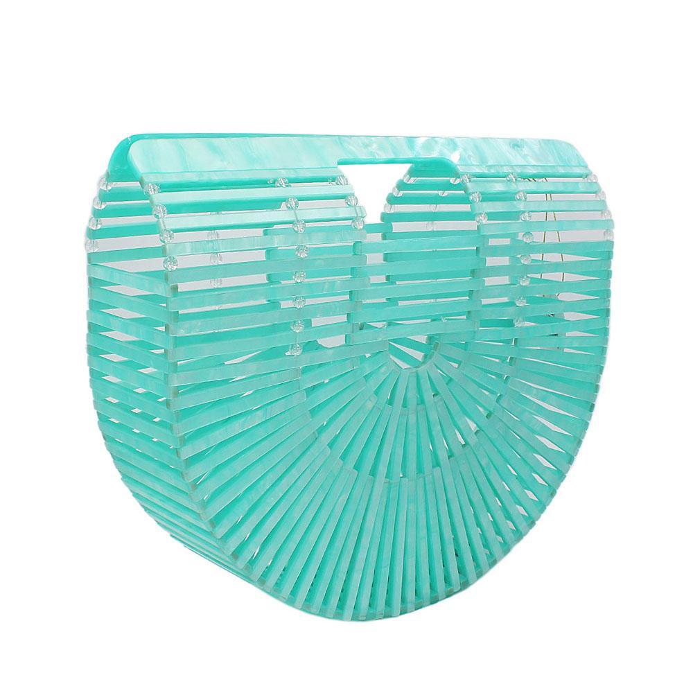 Sea Green Ark Acrylic Clutch Purse