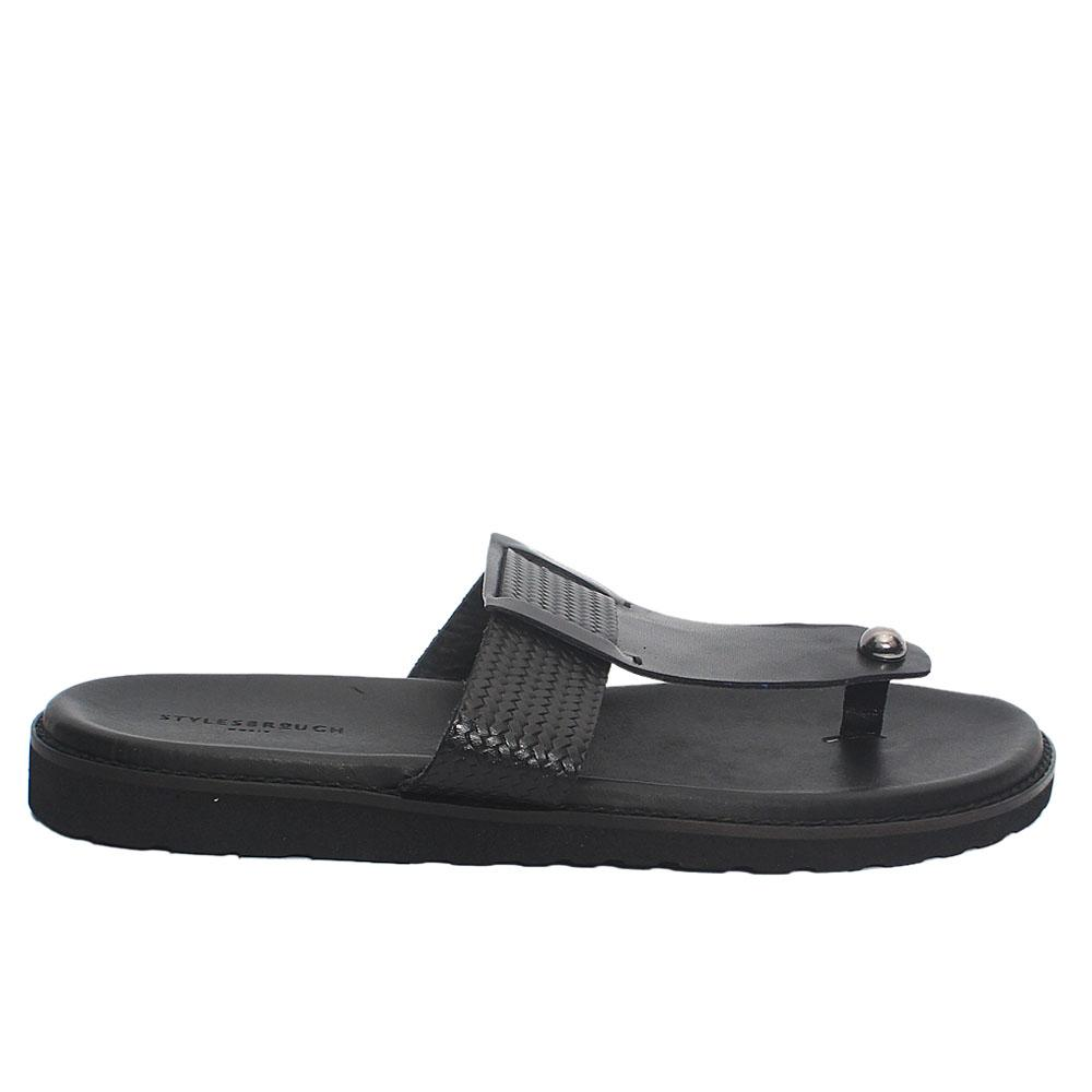 Black-Alex-Italian-Leather-Men-Slippers