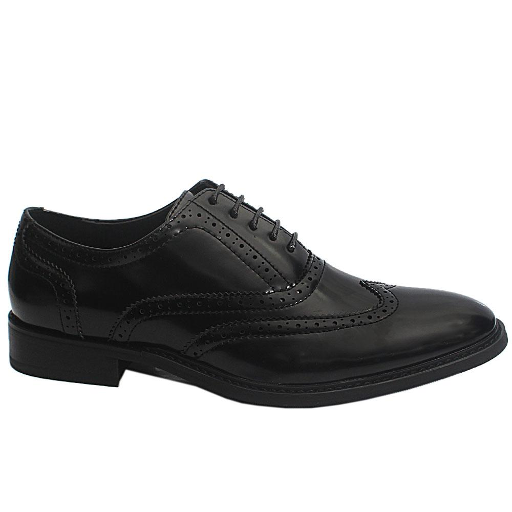 Black Holden Patent Leather Men Brogue