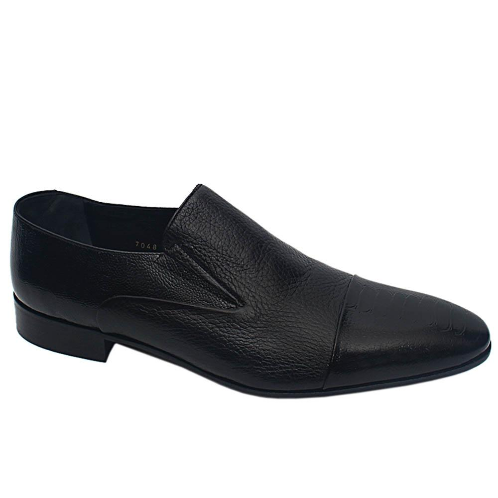 Black Cecco Italian Leather Men Shoe